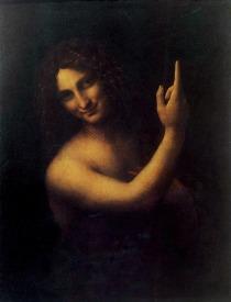 San Giovanni Battista, di Leonardo da Vinci. Il mistero che avvolge questa figura, che indica verso l'alto, ha sempre avvolto i miei passi, sia nella vita che nella scrittura. Questo dipinto fu realizzato tra il 1508 e il 1513.